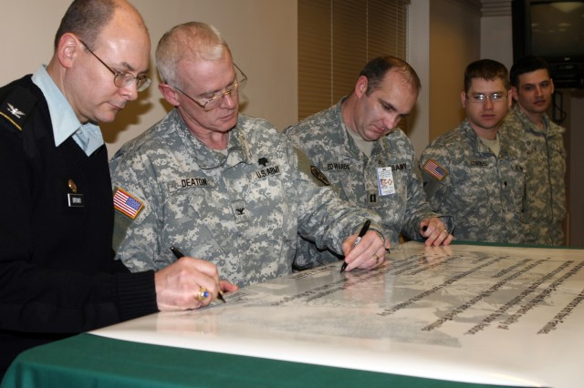 West Point WTU signs Army Warrior Health-Care Covenant