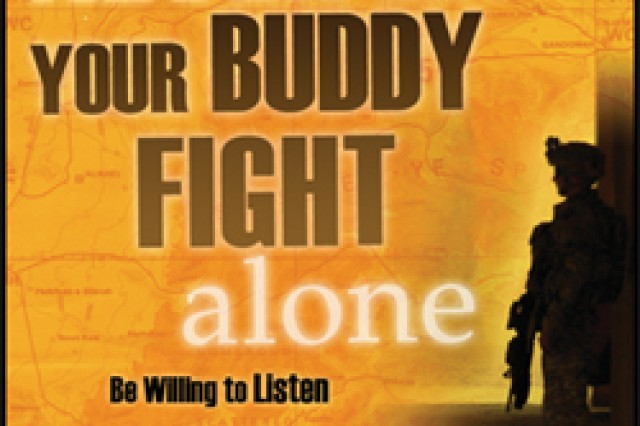 This suicide prevention poster can be downloaded from the U.S. Army Center for Health Promotion and Preventive Medicine's Web site.