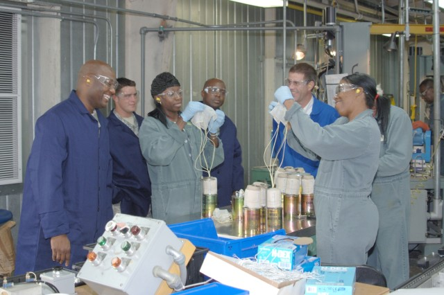 Employees at Pine Bluff Arsenal in Pine Bluff, Ark.