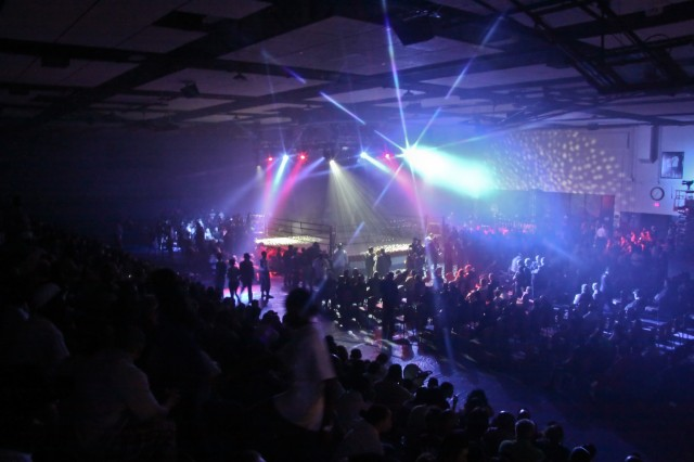 The bleachers are full, the lights are bright and the crowd waits in anticipation for the III Armored Corps and Fort Hood, first-ever Boxing Smoker finals to begin in Abrams Gym on Fort Hood, Texas, March 5.