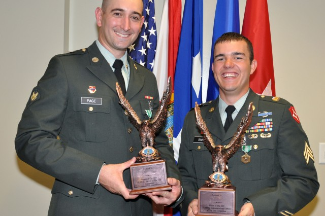 Sgt. Ryan Doot (right) was selected as the 2009 Noncommissioned Officer of the Year and Spc. Joshua Page (left) was selected as the 2009 Soldier of the Year.