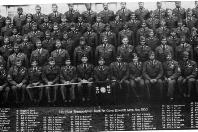 Headquarters, 231st Transportation Truck Battalion, November 1950.