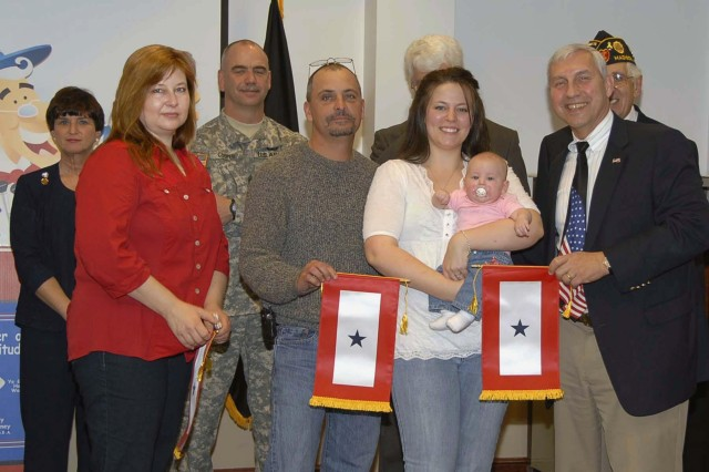 ACS recognized 24 families of servicemembers during a Blue Star Banner presentation March 6.
