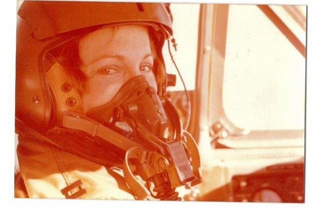 Then-Capt. Sally Murphy is shown in the cockpit during her first aviation assignment with 330th ASA (Guardrail) in Germany.
