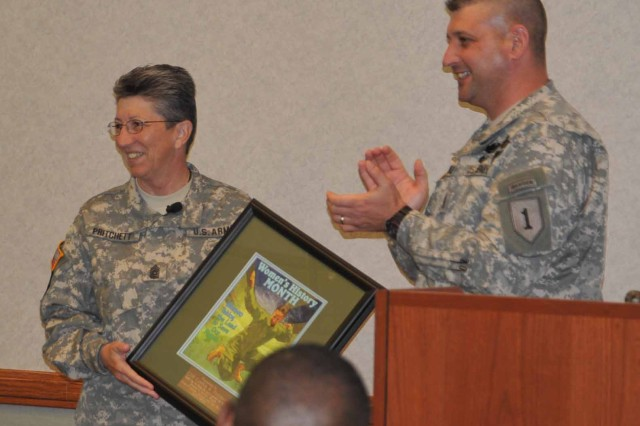 Senior NCO guest for Women's History Month event