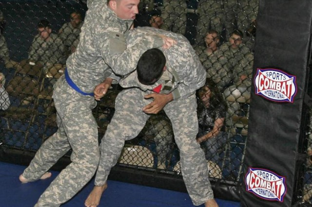 Squaring off in octagon: combatives may lead to Fort Polk team