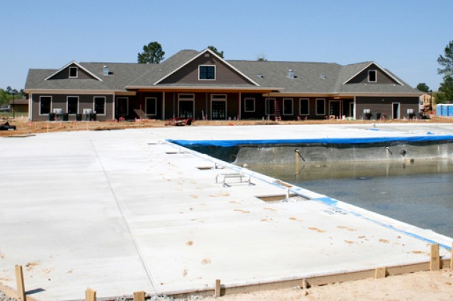 Fort Polk's Maple Terrace Neighborhood Center pool will be refreshing for Picerne residents on those hot Louisiana summer days. The center is an 11,000 square-foot facility scheduled to open in May.