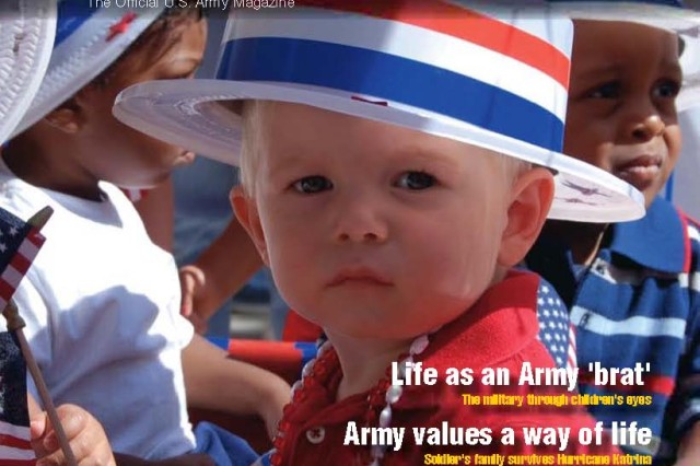 April highlights the month of the military child, along with other articles.