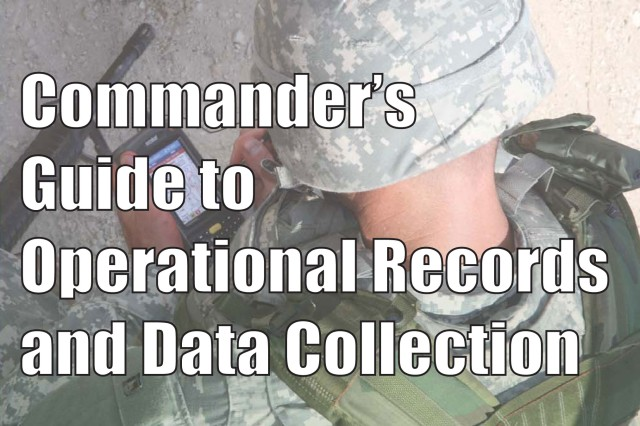 """Front cover of """"Commander's Handbook for Operational Records and Data Collection."""""""