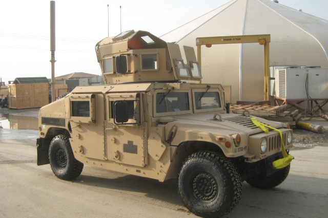 The 1st M1151 with FK7 installed in Afghanistan.