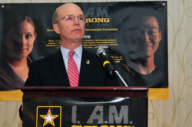 "Secretary of the Army Pete Geren opened the second annual I. A.M. Strong Sexual Harassment and Sexual Assault Prevention Summit April 6 in Arlington, Va., telling the audience that the Army would set the ""gold standard when it comes to sexual assault investigation and prosecution."""