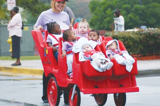 Army Families celebrated Month of the Military Child with a kick-off parade at Hunter Army Airfield's Child Development Center, April 1.