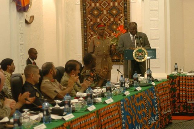 President of Kenya welcomes delegates to the 2009 Land Forces Symposium