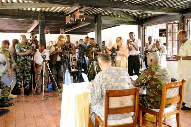 Press conference with USARCENT and Kenyan army
