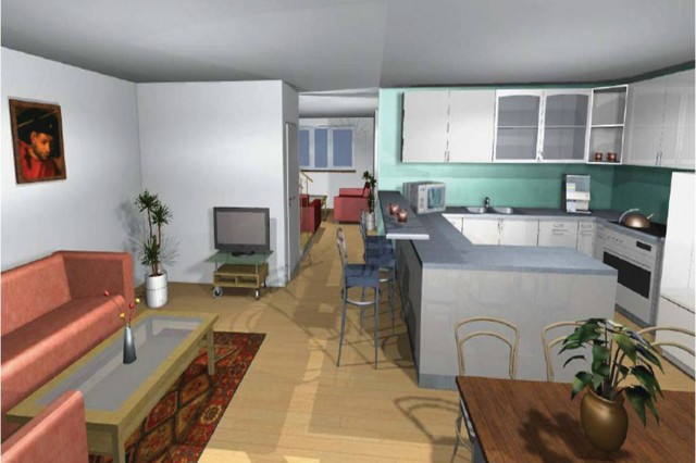 Artist's renditions of the interior of the new $133 million Army family housing community to be built south of the Wiesbaden Army Airfield by 2012.