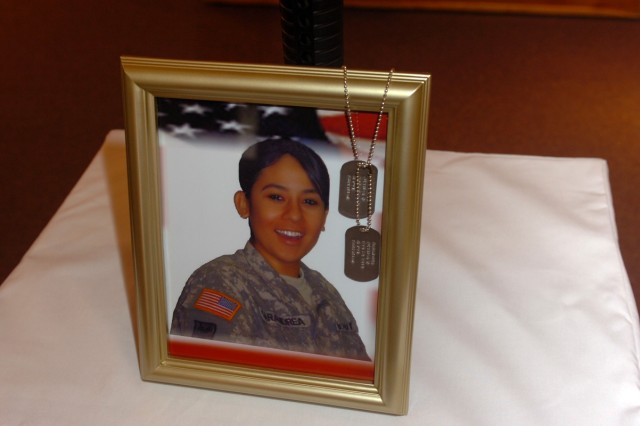 Hundreds of fellow Soldiers, friends and family members showed up to honor 3rd Heavy Brigade Combat Team, 1st Cavalry Division's Spc. Jessica Sarandrea during her memorial service April 16, at the Ironhorse Chapel on Fort Hood, Texas.