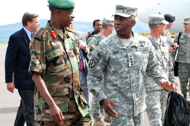 Ward leads Africa Command delegation to Rwanda
