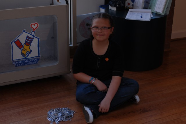 Fort Stewart Girl Donates Time, Soda Can Tops to Ronald McDonald House