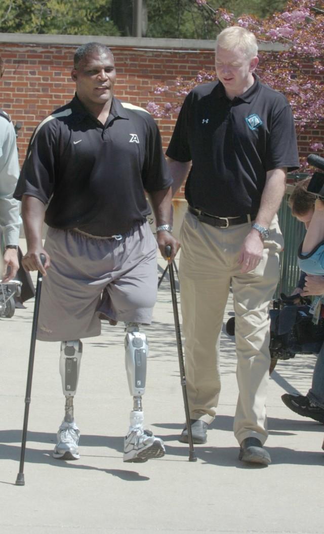 Gadson tests power knee