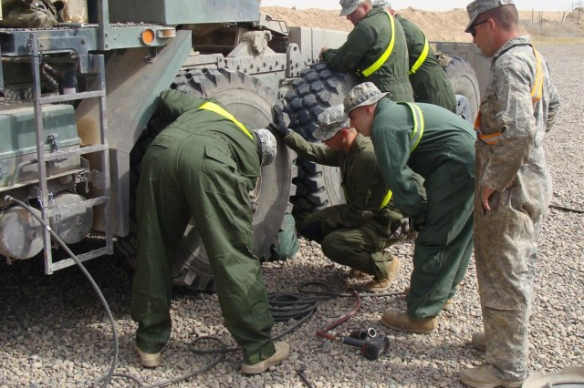 Transportation Soldiers train sister brigade company