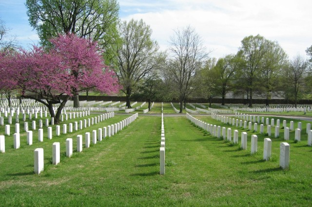 Fort Smith National Cemetery in Arkansas is on the National Register of Historic Places, and the final resting place of Brig. Gen. William O. Darby, best known for his organization of the First Ranger Battalion during World War II.