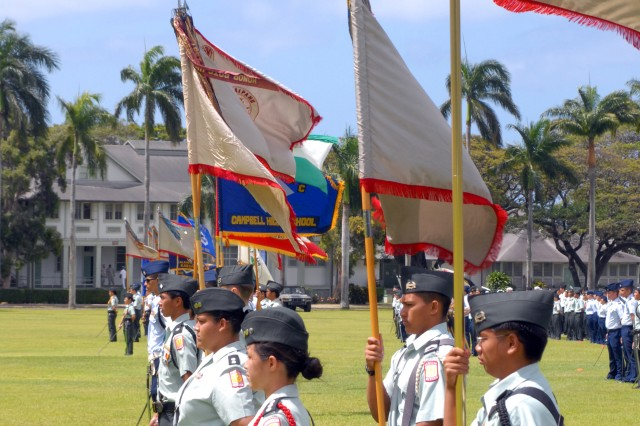 Hawaii JROTC Cadets Honored at Fort Shafter