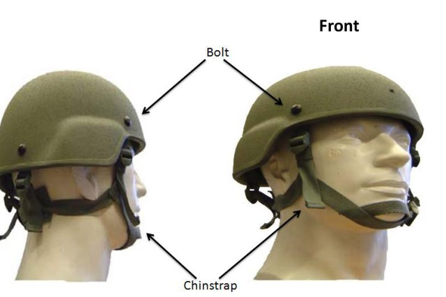The Army has issued a recall of 34,218 advanced combat helmets because the four screws which hold the chinstrap and hardware were not constructed to government specifications.