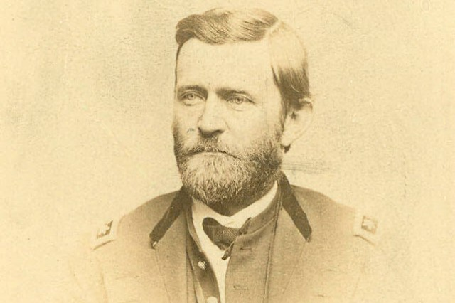 Image shows Lieutenant General Ulysses S Grant. (Massachusetts MOLLUS photograph Collection).