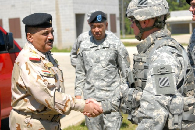 Iraqi General Visits 3rd HBCT at Fort Benning