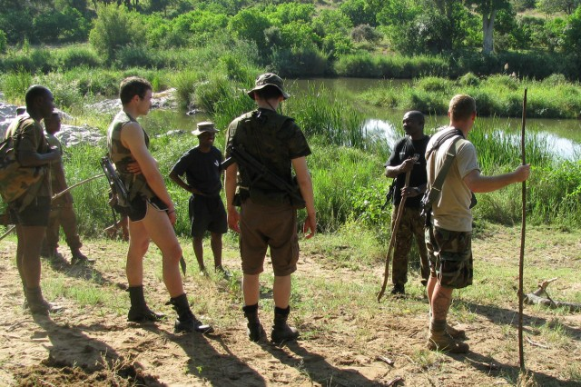 During survival training, U.S. Army NCOs spent nearly three weeks in the South African bush in Phalaborwa, near the Kruger National Park, living off the land, learning the art of tracking and evading capture.