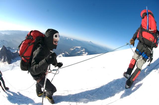 Ryan Job climbs at 13,000 on Mount Rainier. Job is a blind ex-Navy SEAL.