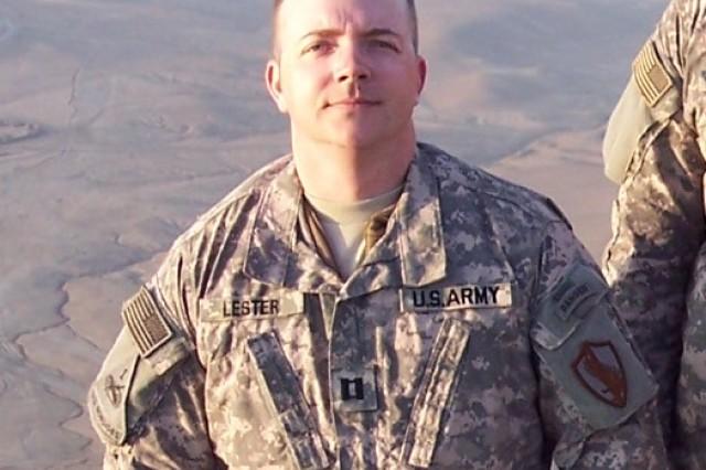 Capt. Paul Lester on Ghar Mountain near Kabul, Afghanistan.