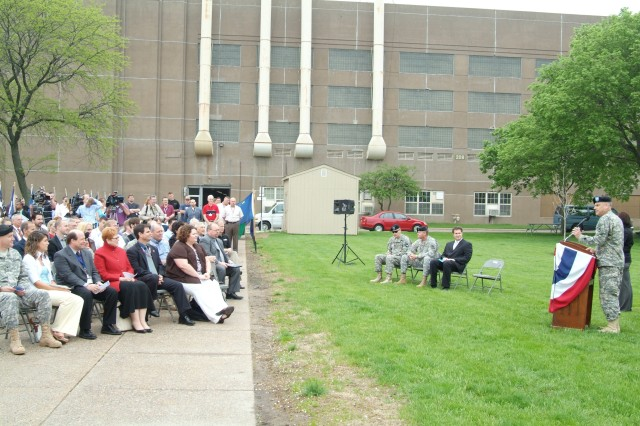 More than 100 people were in attendance at the Rock Island Joint Manufacturing and Technology Center, for the roll out of the first FRAG Kit 6.