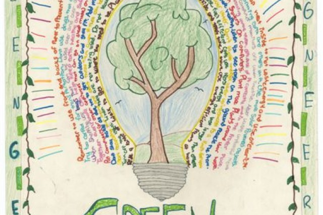 First Place winner of the poster contest for Geilenkirchen Elementary School is Kokie Childers.