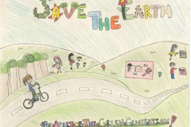 Second Place winner of the poster contest for Geilenkirchen Elementary School is Mara Santana.