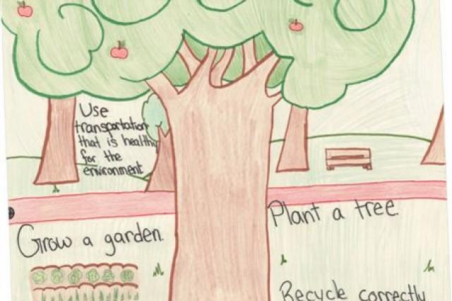 Third Place winner of the poster contest for Geilenkirchen Elementary School is Jordan West.