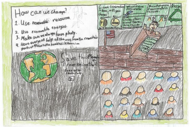 Second Place winner of the poster contest for AFNROTH International  School (Grade M1) is Logan Harless.