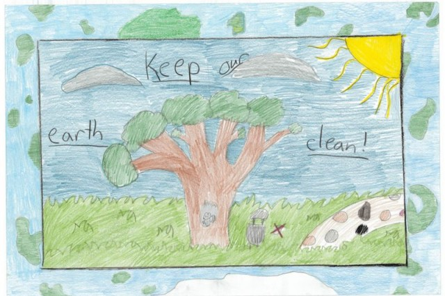 Third Place winner of the poster contest for AFNROTH International  School (Grade M1) is Taylor Mac Gillivary.