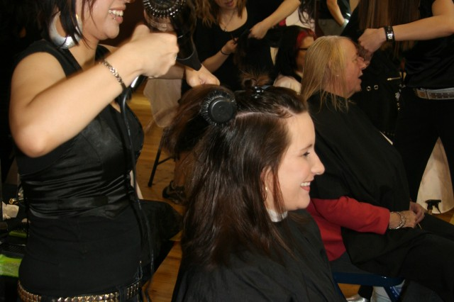 COLORADO SPRINGS, Colo.-Military spouses enjoy free haircuts and hairstyling at the May 7 Military Spouse Appreciation Day in Colorado Springs.