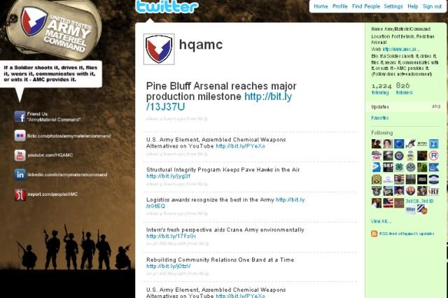 """Screenshot  of AMC <a href=""""http://twitter.com/hqamc"""" title=""""Twitter"""">Twitter</a> page."""