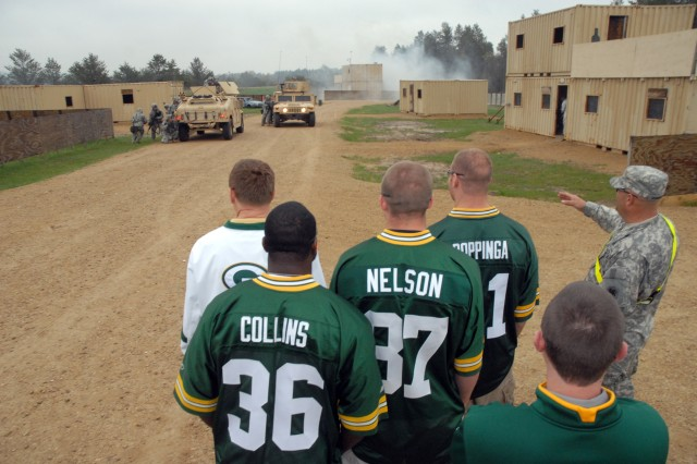 Green Bay Packers visit to troops at Fort McCoy