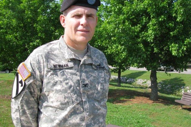 """Col. Tom Newman is getting used to the Aca,!A""""fitAca,!A? of civilian life after serving 30 years in the Army. Now retired, Newman is grateful for the Army experience, and how it has shaped his career and his character."""