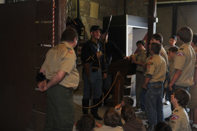Fort Riley hosts eight Boy Scout troops for Scout Riley Day