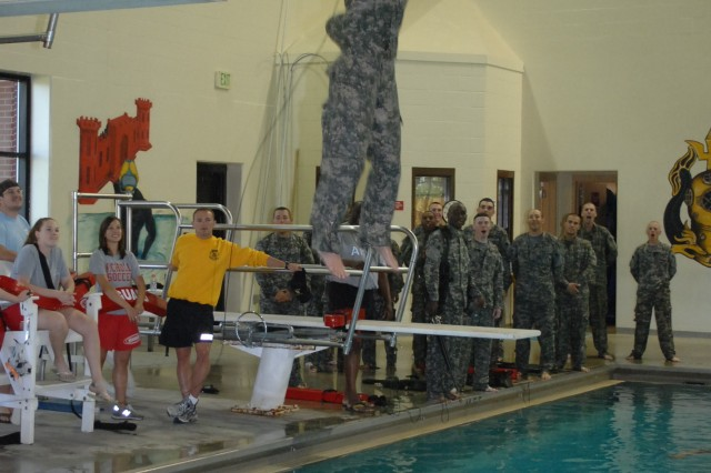 Miss Missouri learns Combat Water Survival