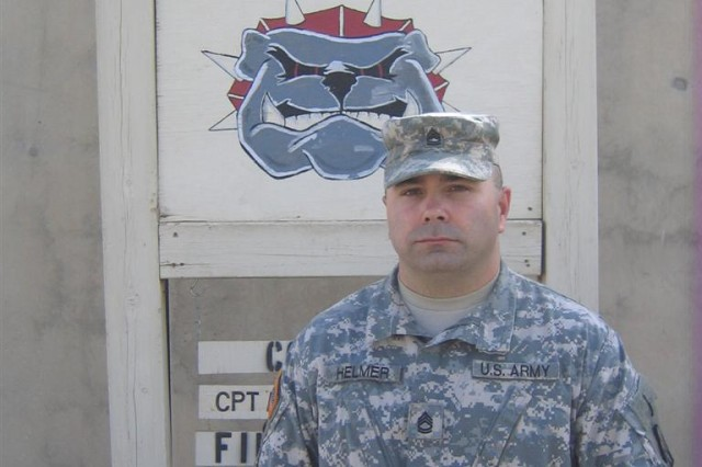 """Sgt. 1st Class Eric Helmer, battalion motor sergeant, 391st Combat Sustainment Support Battalion, 16th Sustainment Brigade, Contingency Operating Base Speicher, Iraq, has been leading troops since 1997, when he became an NCO. """"Being a non-commissioned officer is about leading, training and mentoring Soldiers,"""" said Helmer, a Pineville, Mo., native. """"Your job as an NCO is to enforce the standards. Train your Soldiers hard at every opportunity. Do not be afraid to fail; there will be times when you will not succeed. Learn from the failure and move on. Inspect do not expect.  Be motivated and motivate your Soldiers."""""""