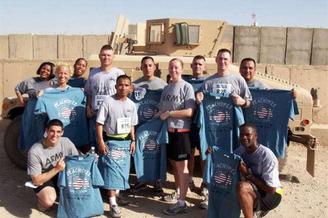 Running to stay fit in Iraq