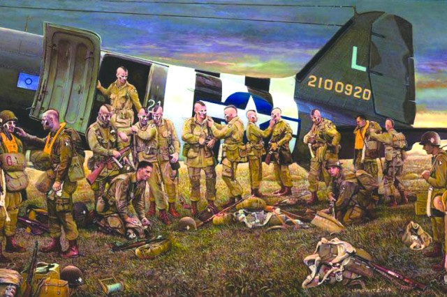 Limited print depicts famous D-Day jump