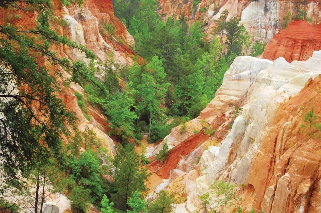 This view from the canyon rim can be accessed without any hiking and is only a short drive from the visitors center.