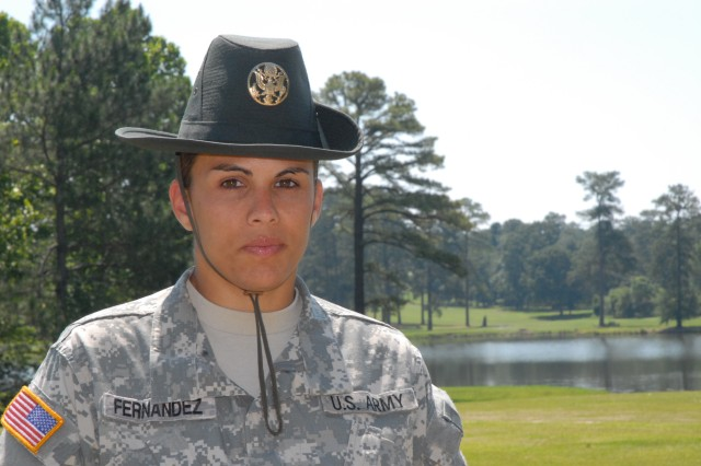 Staff Sgt. Betsy Maria Fernandez, a reservist, has been a drill sergeant since 2004.