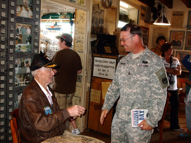 Chance meeting brings cavalry sergeant face-to-face with D-Day veteran